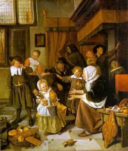 The Feast Of St Nicholas by Jan Steen